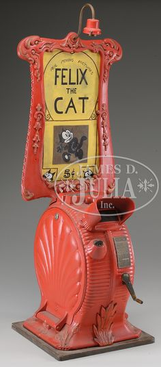 Felix the Cat... Tabletop Cast Iron, Clamshell Mutoscope.