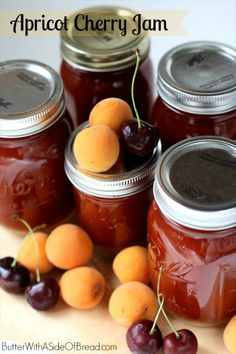 Homemade Apricot Cherry Jam ~ it's easier than you think!! Butter with a Side of Bread #recipe #jam