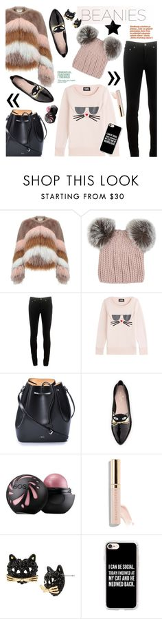 """#ootd Sweet Beanies"" by cstarzforhome ❤ liked on Polyvore featuring Urbancode, Eugenia Kim, rag & bone, Karl Lagerfeld, N°21, Kate Spade, Beautycounter, Betsey Johnson and Casetify"
