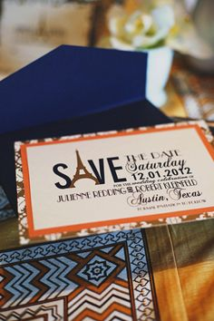 Paris themed wedding, cute idea for an invitation!