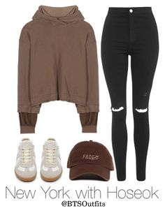 """New York with Hoseok"" by btsoutfits ❤ liked on Polyvore featuring Haider Ackermann and Topshop"