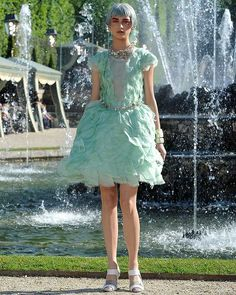 Karl Lagerfeld stands out in his eccentricity - not least for combining high hemlines with classic pannier wasitlines in his recent 2012/13 Chanel Cruise Collection show at Versailles.