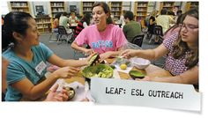 Baylor's LEAF program (Learning English Among Friends) started in 2003 to hold ESL classes for local students, families, and Baylor's housekeepers.