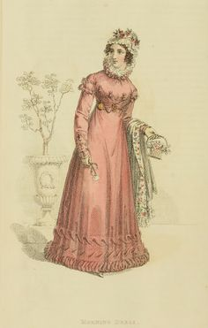 Pink morning dress, 1822 Ackermann