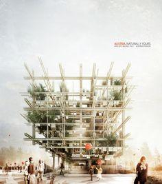 Edible Austrian Pavilion for 2015 Milan Expo by penda & Alex Daxböck | Bustler