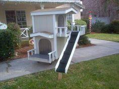 Hundehütte oder Katzenhaus
