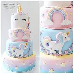 Bolo Unicórnio  Unicorn Cake @anabrumbiscuit