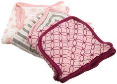 Kicky Pants Baby-girls Newborn Print Swaddling Blanket Set