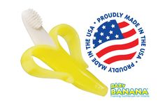Baby Banana Infant Toothbrush was invented by a mom, developed by a family-run company, and made in the USA!