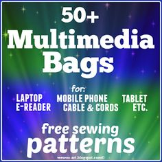 Check out an impressive collection of 50 Multimedia Bags that contain free sewing patterns and tutorials. This collection presents so many possibilities to create multimedia bags for laptop, mobile phone, tablet and so on.