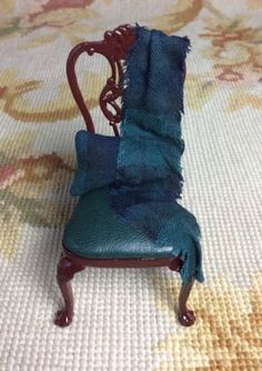 Chair Seat Dressed 1:12 Dollhouse Miniature