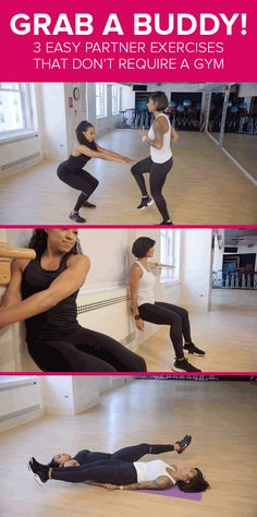 Grab a partner and get fit with these easy bodyweight exercises. A simple way to get fit fast!