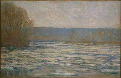 Claude Monet Ice Breaking Up On The Seine Near Bennecourt