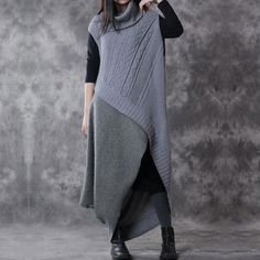Wool Two Piece Suit Sweater And Dress - Buykud