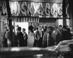 Young people gather around Whisky a Go-Go, one of the new discotheques on Gaslight Square in 1965. Traditionalists said they were too loud and crowded the sidewalks with underage people. Recorded music pounding from the discotheques drowned out the jazz that had made the square. (Lloyd Spainhower, St. Louis Post-Dispatch)