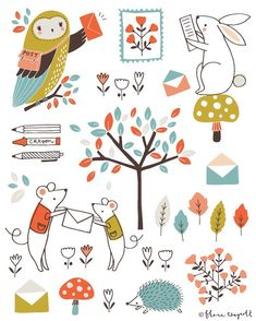 """""""Happy Valentines Day ❤️ I hope some of you received cards in the mail delivered by a friendly owl or perhaps a mouse in a waistcoat! An illustration from…"""""""
