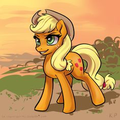 Speedpaint 03 - Applejack by KP-ShadowSquirrel.deviantart.com on @DeviantArt