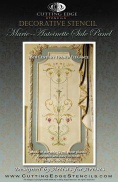 Parete stencil elegante arredamento francese Marie-Antoinette