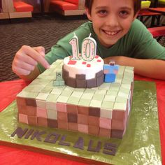 Minecraft cake by Cara