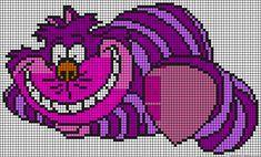Cheshire cat Alice perler bead pattern