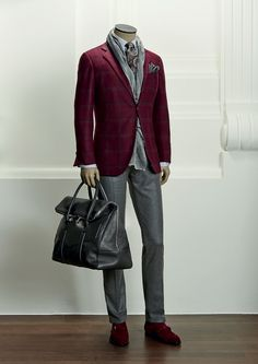 Scopri la collezione Uomo A-I 2014 Kiton Sharp Dressed Man, Well Dressed Men, Mens Attire, Mens Suits, Stylish Men, Men Casual, Suit Fashion, Mens Fashion, Fall Blazer