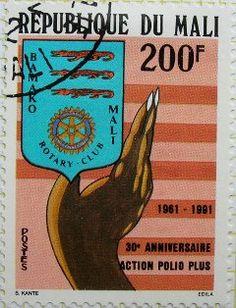 30e anniversaire de l'action Polio Plus (1961 - 1991). Bamako Mali Rotary Club…
