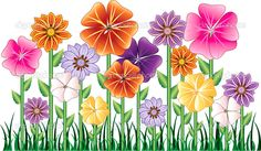 Flower garden Cartoon flowers Flower clipart Flower illustration