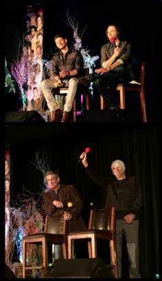 HousCon2015--Alan Ackles and Gerry Padalecki on stage.