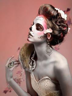 pink dia de los muertos