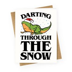 Darting Through The Snow Parody Greeting Cards | LookHUMAN