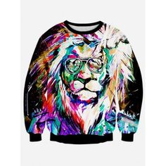 SHARE & Get it FREE   Lion 3D Print Long Sleeve Colorful SweatshirtFor Fashion Lovers only:80,000+ Items·FREE SHIPPING Join Dresslily: Get YOUR $50 NOW!