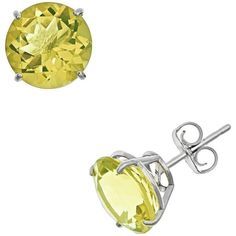 Sterling Silver Lime Quartz Stud Earrings ($58) ❤ liked on Polyvore featuring jewelry, earrings, green, quartz jewelry, sterling silver jewellery, quartz earrings, round earrings and lime green earrings