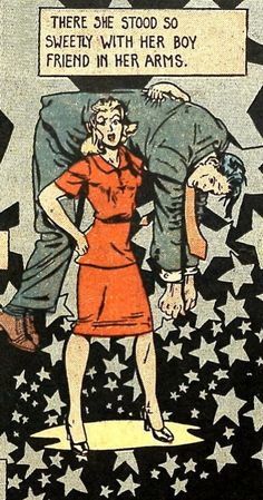 Comic There she stood so sweetly with her boy friend in her arms insta Old Comics, Comics Girls, Vintage Comics, Pop Art Comics, Comic Books Art, Comic Art, Vintage Pop Art, Romance Comics, Comic Book Panels
