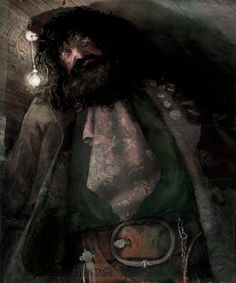 Rubeus Hagrid - New Images from the Illustrated Edition of Harry Potter and the Sorcerer's Stone. The images are done by Jim Kay, who is known for his illustrations in Patrick Ness' A Monster Calls. Harry Potter Hagrid, Harry Potter Jim Kay, Harry Potter Author, Arte Do Harry Potter, Harry Potter Jk Rowling, Harry Potter Books, Harry Potter Characters, Harry Potter World, Harry Harry