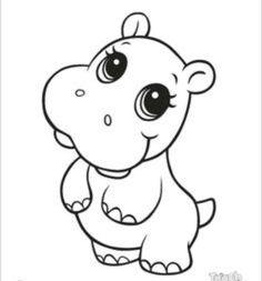 find this pin and more on cookies templates ideas learning friends hippo baby animal coloring - Animal Colouring Pictures To Print