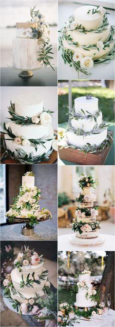 Greenery wedding cake idea #weddings #weddingcakes #cakes ❤️ http://www.deerpearlflowers.com/wedding-cake-trends/