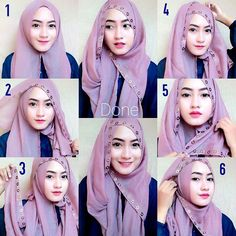 This is a gorgeous hijab to wear for any occasion, the lining touch is very beautiful ad you could make a lot of styles out of it, it looks like a headpiece jewel. If you have a lining hijab patterns,…