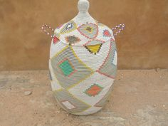 American Indian Laundry basket exclusive home by africanbaskets Toy Storage, Storage Baskets, Special Wedding Gifts, My Collection, New Shop, Diy Projects To Try, African Art, Laundry Basket, American Indians