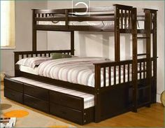 Home Decorating Style 2016 for 79 Beautiful Photos Of Wooden Loft Bed Frame, you can see 79 Beautiful Photos Of Wooden Loft Bed Frame and more pictures for Home Interior Designing 2016 213090 at Bedroom Ideas. Queen Bunk Beds, Bunk Bed Rooms, Bunk Bed With Trundle, Cool Bunk Beds, Bunk Beds With Stairs, Kids Bunk Beds, Twin Bunk Beds, Bedrooms, Loft Bed Frame