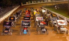 World of Outlaws Four-Wide Williams Grove Speedway | National ...