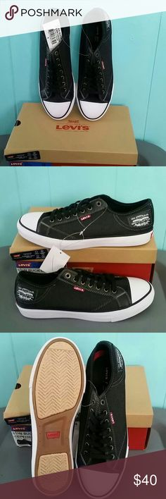"NIB Men's Levi's Sneakers ""It's not a chuck, it's Levi's"" :) Kick up your style to the next level in this black denim (men's) sneakers with comfort tech sole. Summer staple. Also available in size 10.5 in a separate listing. Levi's Shoes Sneakers"