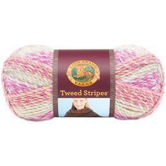 Amazon.com: Lion Brand Yarn 753-206U Tweed Stripes Yarn, Woodlands
