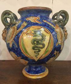 Vaso in maiolica a lustro Minghetti Bologna