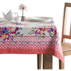 Maison d' Hermine Rose Garden Cotton Tablecloth for Kitchen Dinning Tabletop Decoration Parties Weddings Spring Summer (Rectangle, 60 Inch by 90 Inch) Tablecloths For Sale, Tablecloth Rental, Boho Kitchen, Dining Table In Kitchen, Table Runner And Placemats, Table Covers, Beautiful Kitchens, Floral Motif, Kitchen Towels