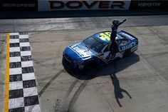 Jimmie Johnson Photos Photos - Jimmie Johnson, driver of the #48 Lowe's Chevrolet, celebrates after winning the Monster Energy NASCAR Cup Series AAA 400 Drive for Autism at Dover International Speedway on June 4, 2017 in Dover, Delaware. - Monster Energy NASCAR Cup Series AAA 400 Drive for Autism