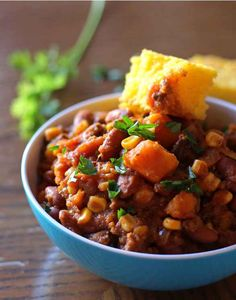 Slow Cooker Sweet Potato Chili is a satisfying meal on a cool fall day. Use Cutco's Gourmet Paring Knife to prep the sweet potatoes for the slow cooker. Hearty Chili Recipe, Chili Recipes, Slow Cooker Recipes, Crockpot Recipes, Soup Recipes, Cooking Recipes, Healthy Recipes, Cooking Games, Healthy Eats