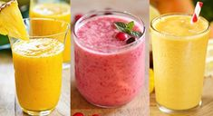Smoothie Detox, Smoothie Drinks, Smoothie Recipes, Healthy Green Smoothies, Healthy Drinks, Dieta Detox, Cleanse Your Body, Food And Drink, Sweets