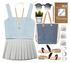 """dreaming of summer... ☀️"" by emc1397 ❤ liked on Polyvore featuring Ksenia Schnaider, Zara, Maryam Nassir Zadeh, Iosselliani, ASOS, Sole Society, Vince Camuto, Billabong, Crate and Barrel and Summer"