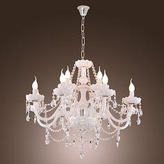 Lámpara Chandelier de Cristal con 12 Bombillas - DRAPER – USD $ 249.77