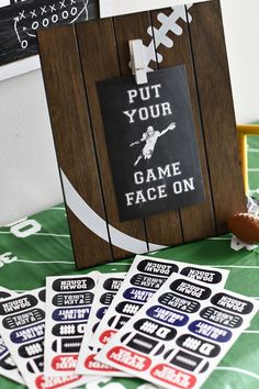 Put your Game Face On! with these temporary tattoo party favors Sports Themed Birthday Party, Football Birthday, Birthday Parties, Football Parties, Football Themes, Football Invitations, Cupcake Display, Classic Theme, Game Face